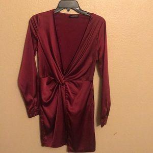Silky dress.